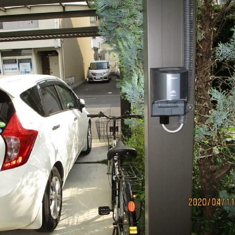 電気自動車EV電源工事の写真