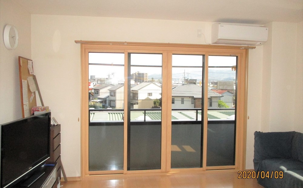窓のリフォーム後の写真