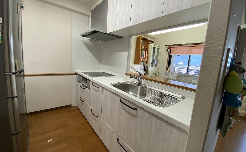 マンションのキッチンリフォーム後の写真