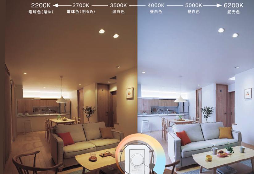 LED照明調光の写真