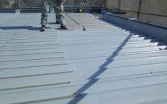 屋根リフォーム工事中の写真